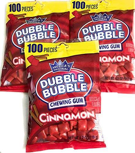 Hot Chewing Gum - Dubble Bubble Chewing Gum Cinnamon 100 pieces x 3 bags