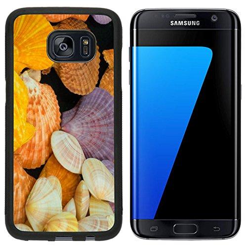 Liili Samsung Galaxy S7 Edge Aluminum Backplate Bumper Snap Case iPhone6 IMAGE ID: 7886585 Pecten Nobilis Reeve color shellfish