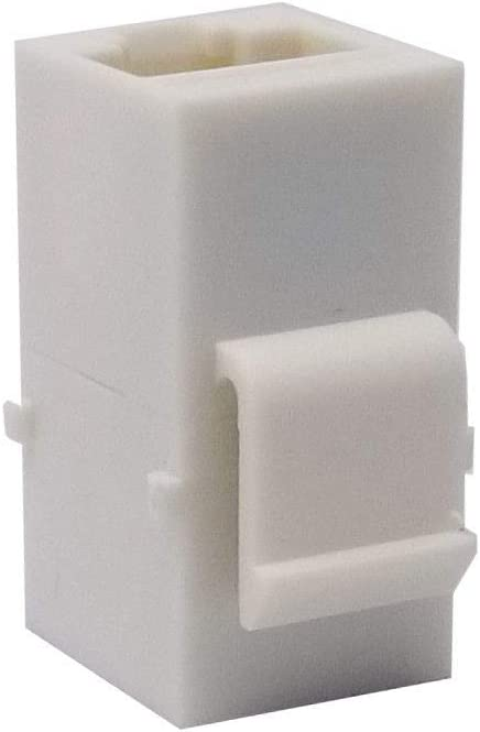 LOGICO 100 Pack Inline Coupler Keystone Jack RJ45 Female to Female Cat6//Cat5e White