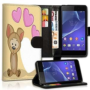 Wallet Wicostar–Funda Case Funda Carcasa diseño Funda para Sony Xperia Z5Compact–Diseño Flip mvd25