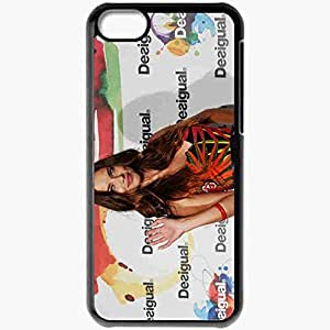 Personalized iPhone 5C Cell phone Case/Cover Skin Adriana Lima Model Beautiful Black