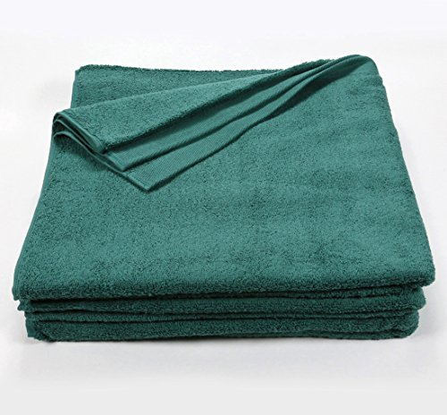 Hunter Green Bath Sheet Towel,1 Dozen (12), 32'' x 66'', 100% Ring-Spun Cotton, Extra Large Beach, Pool or Bath Towels, Machine Washable, Super Soft and Highly Absorbent Towels (Hunter Green) by Wholesale Towel