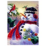 DIY 5D Snowman Full Drill Diamond Painting,Jchen(TM) Merry Christmas Home Decor 5D DIY Diamond Painting Round Diamond Embroidery Cross Stitch Kits (C)