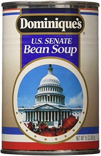 Navy Bean Soup (Dominique's US Senate Bean Soup, 15-Ounce Cans (Pack of 12))