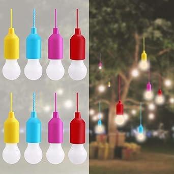 Lampop 8pc Tragbare Led Lampeled Campinglampe Lamping Led Leuchtemit Zugschalter Für Wandern Angeln Schreibtisch Camping Garten Bbq