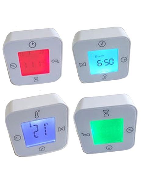 IKEA lottorp Blanco multifunción termómetro Digital Temporizador Reloj de Alarma de Temperatura