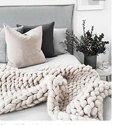 queen size blanket Amazon.com: Queen size blanket   Chunky blanket   Giant knit  queen size blanket
