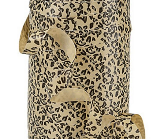 """*20YDS* of 3/8"""" Adorable Tan Brown Leopard Spots Print Poly Curling Ribbon ngKE -60"""