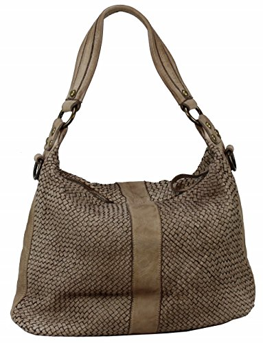 Bozana Bag Rebecca beige Italy Designer Damen Handtasche Schultertasche Tasche Schafsleder Shopper Neu