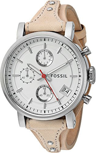 Fossil Women's ES4229 Original Boyfriend Sport Chronograph Vanilla Leather Watch