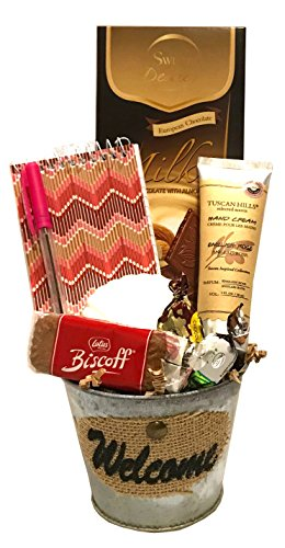 Thinking of You Gift Basket - Get Well Gift - Birthday Gift - Birthday Care Package - DESIGNED FOR HER - Lots of Selections (Hearty - Silver Wayfarer Cross