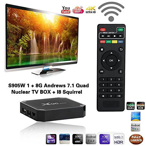 Cewaal TV Box,X96 Mini Android 7 1 Amlogic S905W 1GB+8GB Quad Core WiFi HD  4Kx2K Smart TV Box Med    | PrestoMall - Other Brands