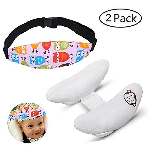 Niño ajustable ayuda del cuello almohada y Seguridad de la banda soporte de la cabeza para los asientos del coche, infantil...