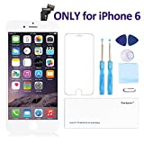 "for iPhone 6(4.7"") Screen Replacement White- Corepair LCD Display Screen + Touch Digitizer Assembly with Full Set Repair Tools and Screen Protector (iPhone 6 White) …"