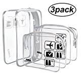 Best Travel Charger For Uses - (3 Pack) ANRUI TSA Approved Clear Toiletry Bag Review