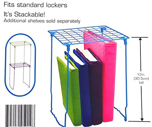 School Locker Shelf Kit Black with Accessories Bundle 24 Pieces by LockerMate (Image #2)
