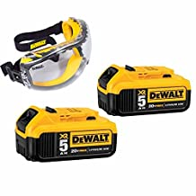 Dewalt DCD771C2 20V MAX Cordless Lithium-Ion 1/2 inch Compact Drill Driver + Techniks Safety Glassiks Leather Spandex Work Gloves Kit