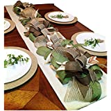(Handmade) Table Garland Runner, Table Runner Decor,Modern Rustic Home Decor, Holiday Table Runner Decoration,Wedding Table Runner Decoration, Table Center Piece, 4 Foot x 8 inch x 6 inch