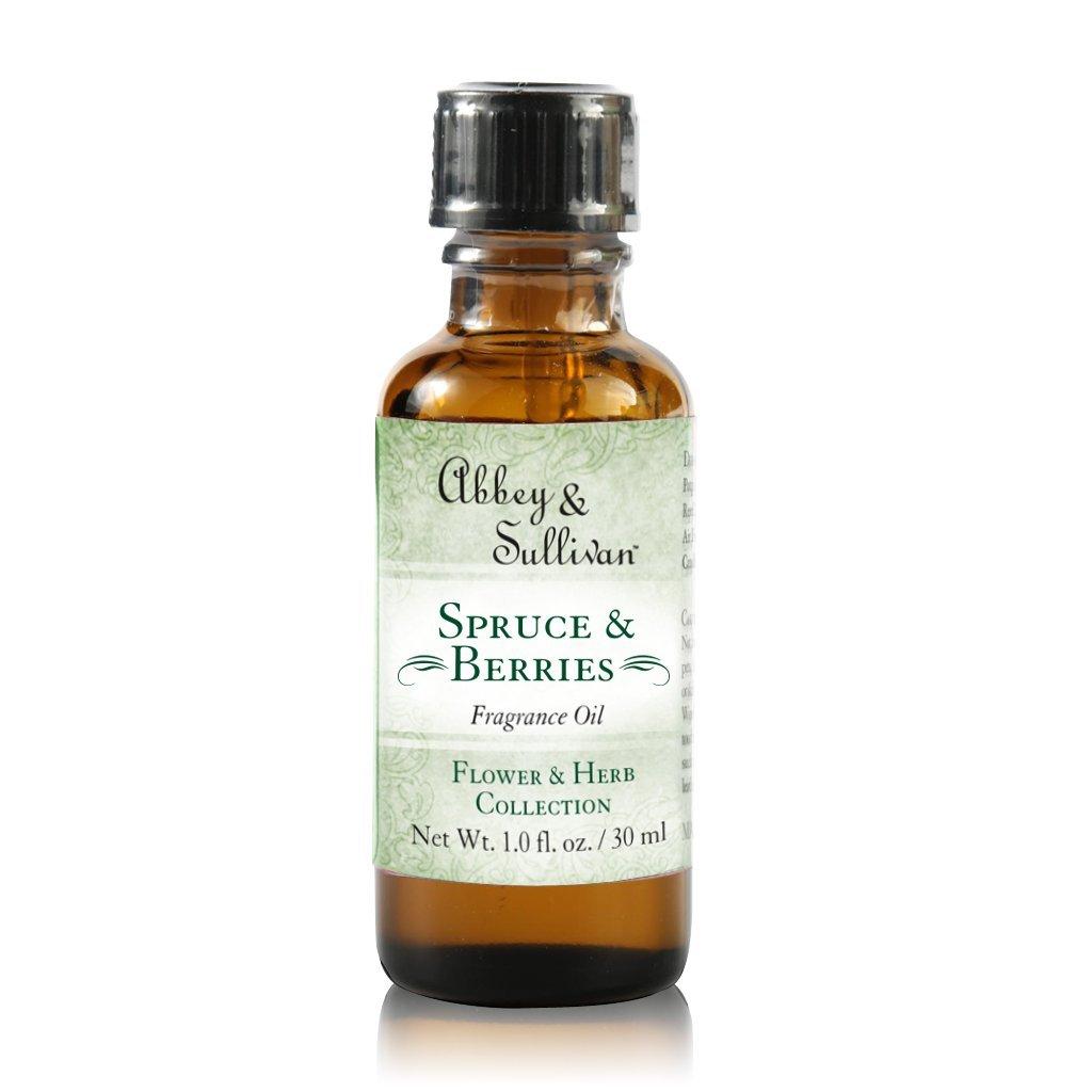 Abbey & Sullivan Fragrance Oil, Spruce & Berries, 1 oz.