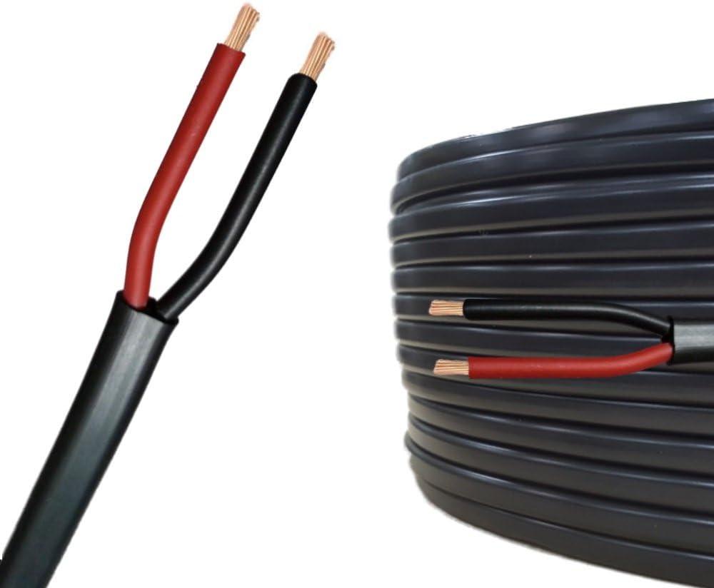 10m 20m ou 50m choix: 20m m/ètre, 2 fils 2 x 1.5 mm/² c/âble cylindrique C/âble multiconducteur pour lautomobile // remorque 5m
