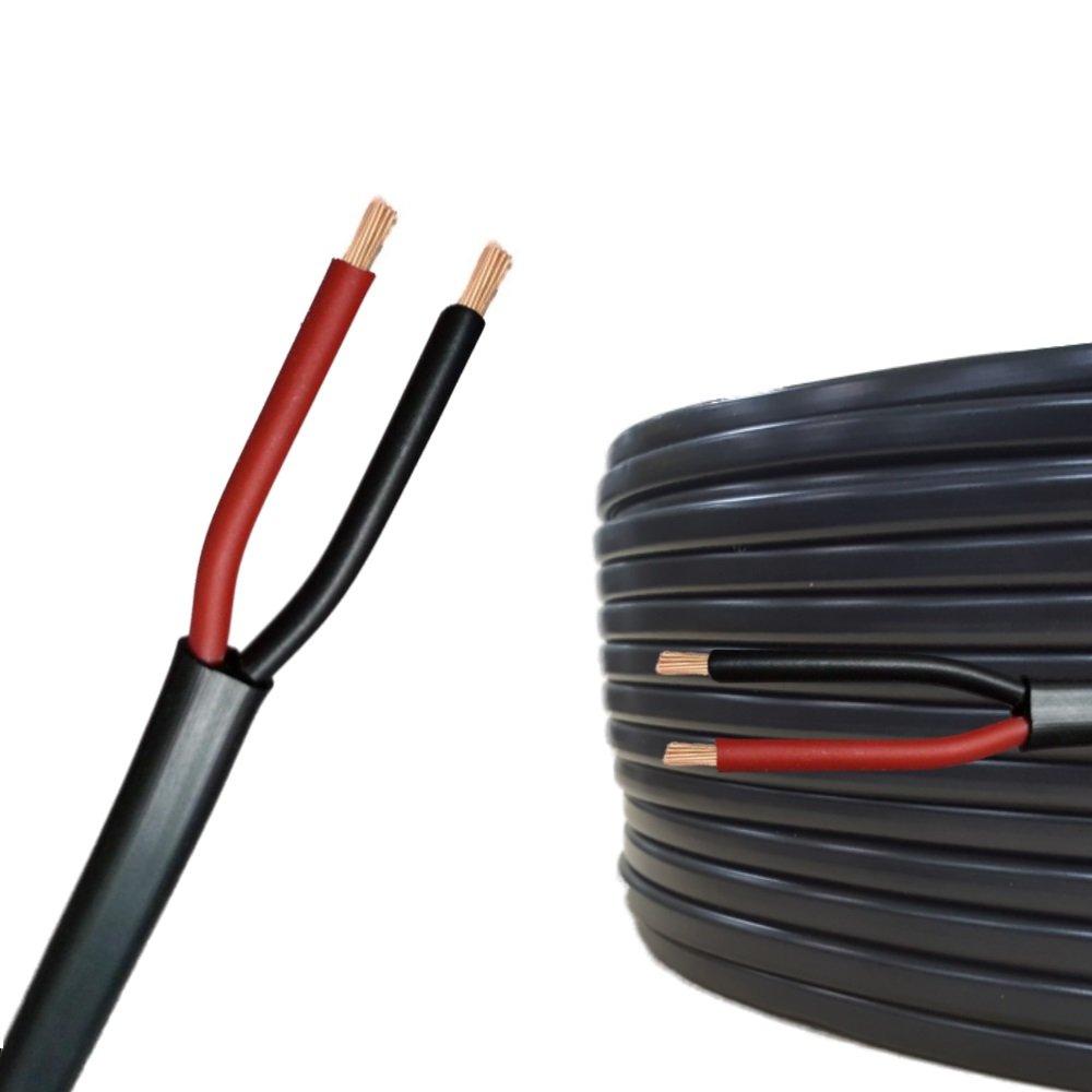 2 poli 2 x 0.75 mm/² cavo tondo 10m Cavo elettrico multipolare per automobile // rimorchio 5m 20m o 50m selezione: 50m metri