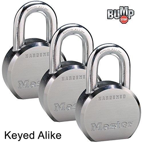 Master Lock - (3) High Security Pro Series Keyed Alike Padlocks 6230NKA-3 w/ BumpStop ()