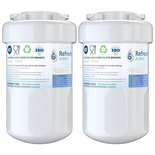 Refresh Replacement for GE Smatwater MWF GWF, MWFP, MWFA and Kenmore 46-9991, 469991, 9991 Refrigerator Water Filter (2-Pack)