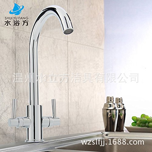 Lalaky Taps Faucet Kitchen Mixer Sink Waterfall Bathroom Mixer Basin Mixer Tap for Kitchen Bathroom and Washroom Hot and Cold Copper Single Hole Can Be redated