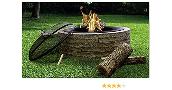 Amazon.com : Light weight portable fire pit kit, easy to use and assemble,  for outdoor use, backyards, decks, camping, festivals and bonfires : Garden  & ... - Amazon.com : Light Weight Portable Fire Pit Kit, Easy To Use And