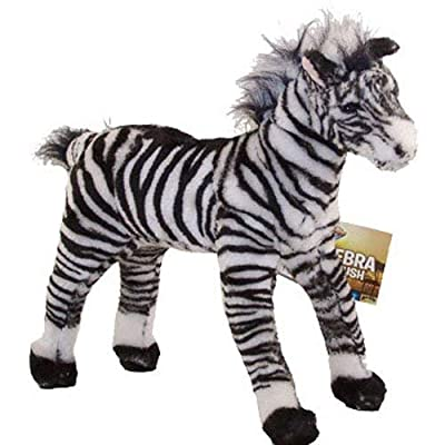 Adventure Planet Plush - STANDING ZEBRA ( 16 inch ): Toys & Games