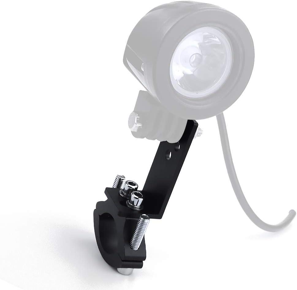 Biqing 2PCS Soporte de Montaje de Faro de Motocicleta,Universal Tubo de Luz de Trabajo Abrazadera de Montaje Antiniebla Luz de Montaje Bull Bar Parachoques L/ámpara Soporte 22mm-36mm Negro