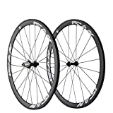 ICAN Carbon Road Bike 700C Wheelset Clincher 38mm Rim Sapim CX-Ray Spokes Only 1370g (Best for: Climbing and Sprinting)