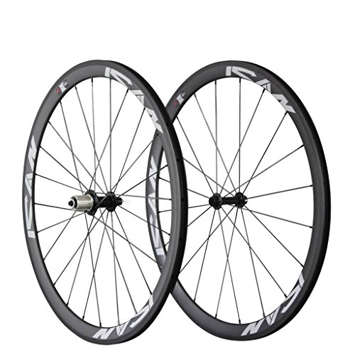 ICAN Carbon Road Bike 700C Wheels Clincher 38mm Rim Sapim CX-Ray Spokes Only 1370g