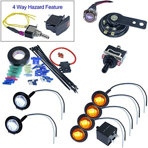 Turn Signal Kits (Horn & Install Kit, Toggle - Street Kit Signal Led