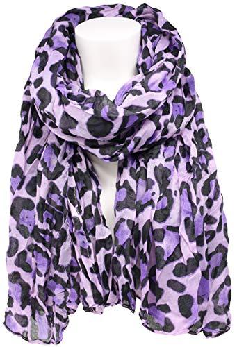 KMystic Classic Leopard Print Scarf (Classic Purple)