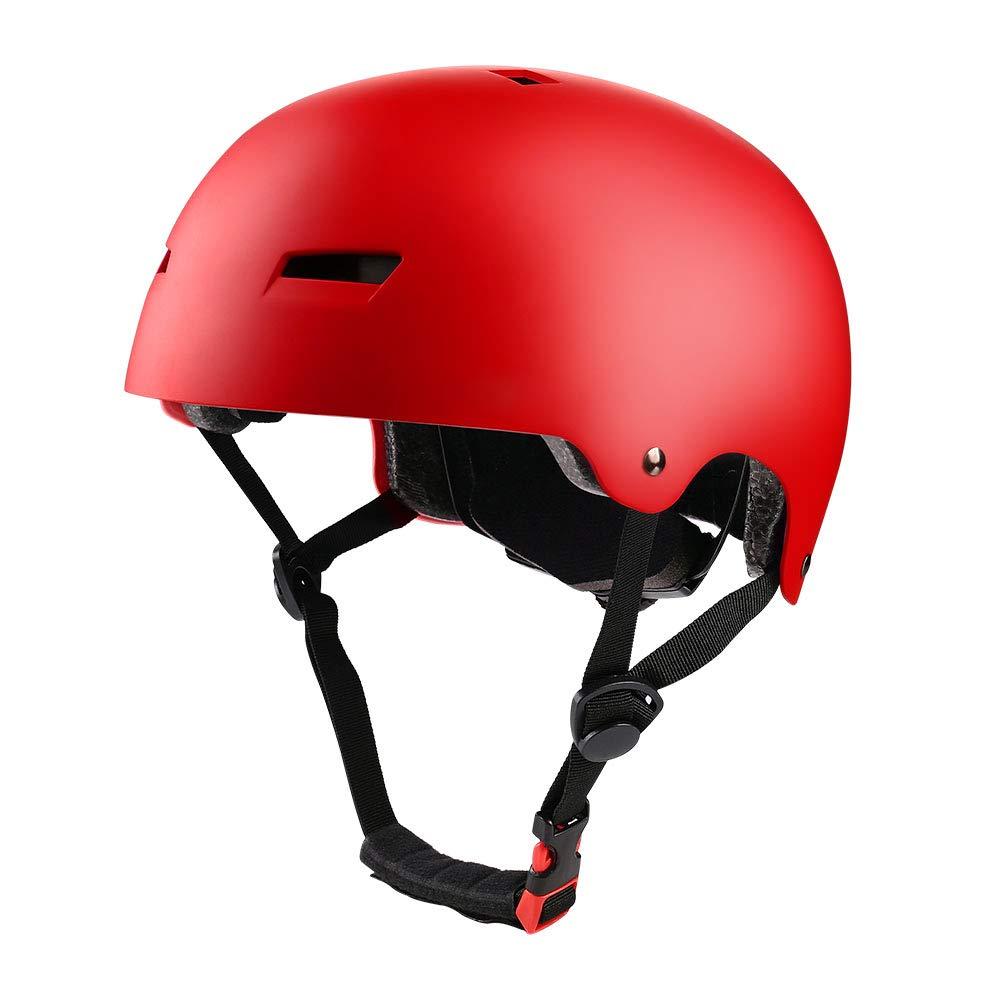【希少!!】 PHZING レッド スケートボードヘルメット Medium|レッド PHZING 調節可能なシステム付き スケートボード/インラインスケートに最適 大人/若者/子供用 B07GDJLGWZ Medium|レッド レッド Medium, カフカ:1b2ccda0 --- a0267596.xsph.ru