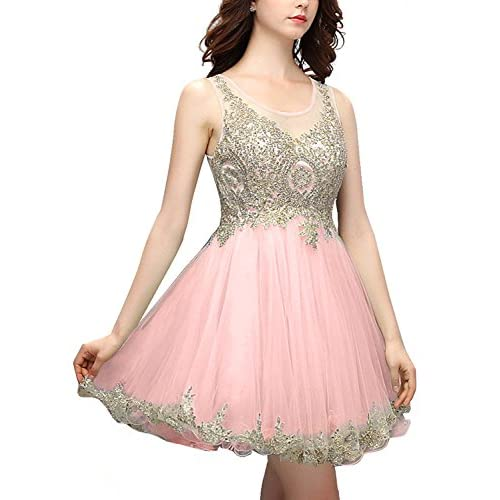 Bbonlinedress 2016 Short Tulle Homecoming Dresses Beaded Prom Party Gowns  low-cost 22ef8a33d