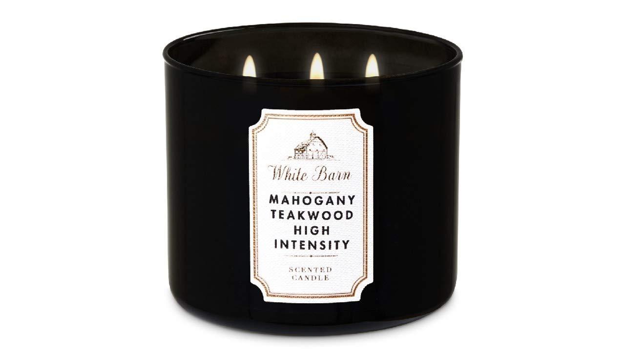 Bath and Body Works 3-Wick Candle Mahogany Teakwood High Intensity 14.5 oz / 411g