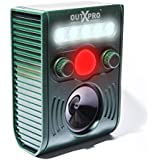 OUTXPRO Motion Activated PIR Ultrasonic Cat Dog Deer Pest Repeller, Solar Charged Distance and Frequence Adjustable Device