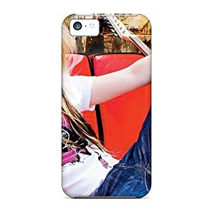 Hot Tpu Cover Case For Iphone/ 5c Case Cover Skin - Avril Lavigne Electric