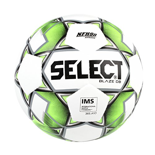 Select Blaze Db Soccer Ball, White/Black/Lime, Size 5 by Select