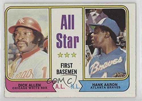 Dick Allen; Hank Aaron (Baseball Card) 1974 Topps - [Base] #332