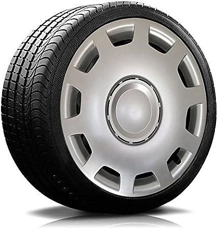 Autoteppich Stylers Farbe Größe Wählbar 16 Zoll Radkappen Granit Silber Passend Für Fast Alle Gängingen Fahrzeuge Universal Auto