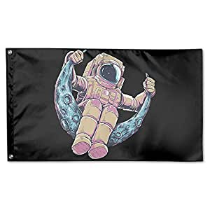 3x 5m Home Garden banderas impreso astronautas bandera de poliéster interior/exterior