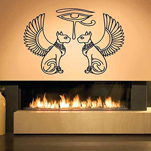 ONETOTOP Egipto Gatos Ojo Ra Pegatinas de Pared para la Sala de ...