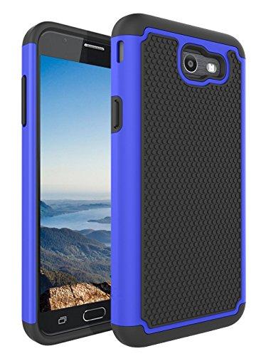 Dr Drop (Galaxy J7 V / J7 2017 / J7 Prime / J7 Sky Pro Case, NOKEA [Shock Absorption] Drop Protection Hybrid Dual Layer Defender Protective Case Cover for Samsung Galaxy J7V / J7 2017 Released (Black Blue))