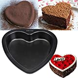 7-inch Heart-shaped Cake Mold Baking Carbon Steel Non Stick Bakeware Cake Pan Xiaolanwelc