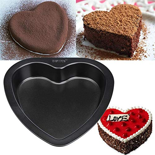 7-inch Heart-shaped Cake Mold Baking Carbon Steel Non Stick Bakeware Cake Pan Xiaolanwelc by Xiaolanwelc