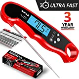 Digital Red Meat Thermometer - Super Fast Instant Read Thermometer - Waterproof Kitchen