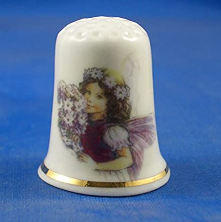 Porcelain China Collectable Thimble Antique Silver Dragonfly with Free Gift Box